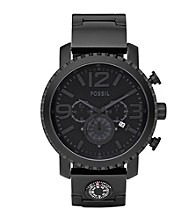 Fossil® Men's Gage Black Plated Stainless Steel Watch
