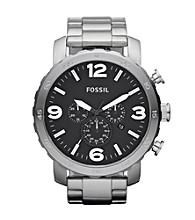 Fossil® Men's Nate Stainless Steel Watch
