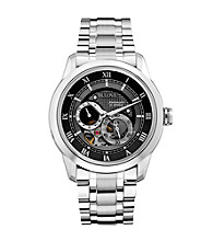 Bulova® Men's Stainless Steel Self-Winding Mechanical Watch