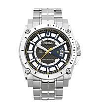 Bulova® Men's Stainless Steel Champlain Watch