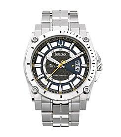 Bulova® Men's Stainless Steel Champlain Watch