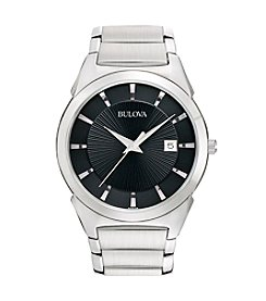 Bulova® Men's Stainless Steel Dress Watch
