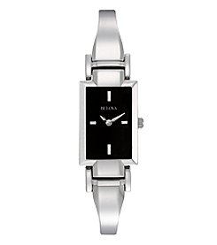 Bulova® Ladies' Stainless Steel Bangle Bracelet Watch