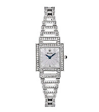 Bulova® Women's Stainless Steel Watch with Swarovski® Crystals