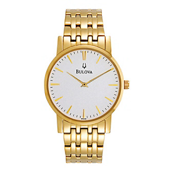 Bulova® Men's Goldtone Stainless Steel Watch