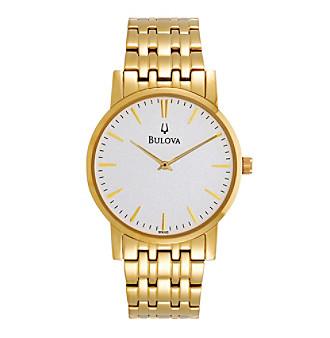 Bulova® Men's Goldtone Stainless Steel Watch