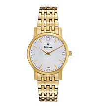 Bulova® Women's Goldtone Stainless Steel and Diamond Watch