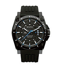 Bulova® Men's Black Stainless Steel Watch