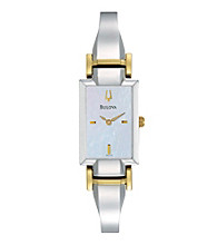 Bulova® Two-Tone Stainless Steel Watch