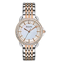 Bulova® Women's Rose Goldtone and Stainless Steel Watch