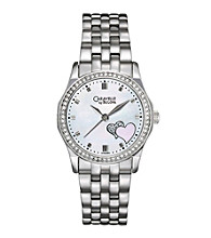 Caravelle® by Bulova Women's Double Heart Watch with Swarovski® Crystals