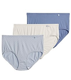 Jockey® Elance® 3-pk. Assorted Hipster Briefs - Raining Dot/Light Blue/White
