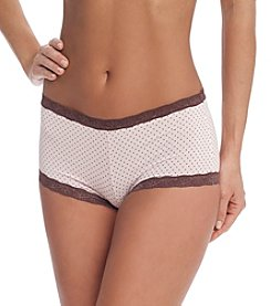 Maidenform® Dream Lace Boyshorts - Pink Chocolate Dot