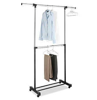 LivingQuarters Adjustable Double-Rod Garment Rack