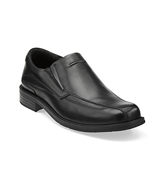 "Clarks® Men's ""Medina"" Slip-On Dress Shoe - Black"