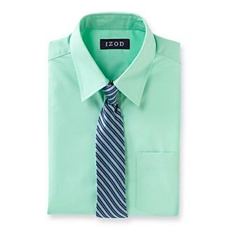 Boys Dress Shirts on Product  Izod   Boys  8 20 Mint Green Dress Shirt And Tie Set