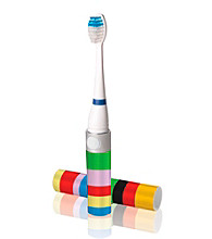 Violight Multicolor Stripe Slim Sonic Portable Electric Toothbrush
