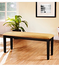 Home Interior Black Bench With Vinyl Cushion