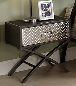 Home Interior Gunmetal Nightstand