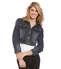 Wallflower Vintage™ Juniors' Cropped Denim Jacket