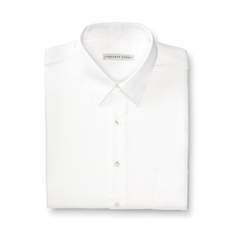 Geoffrey Beene® Men's White Sateen Regular Fit Dress Shirt