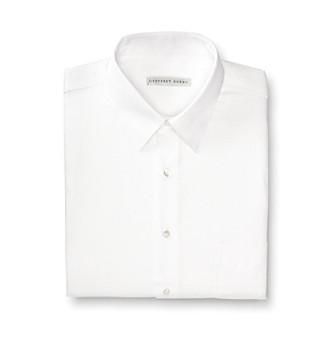 Geoffrey Beene® Men's White Sateen Regular Fit Dress Shirt