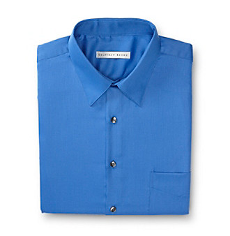 Geoffrey Beene® Men's Delf Blue Sateen Regular Fit Dress Shirt