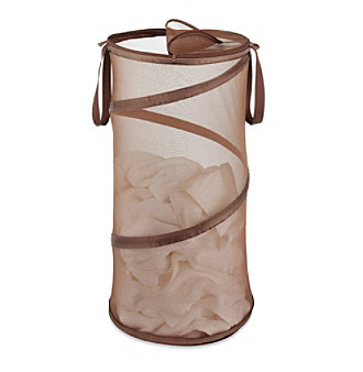 "LivingQuarters 15"" Collapsible Brown Laundry Hamper"