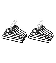 LivingQuarters Set of 10 Spacemaker Black Suit Hangers