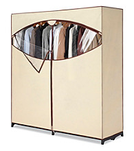 LivingQuarters Extra Wide Latte Clothes Closet