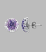 Impressions® Sterling Silver Purple Fade Stud Earrings