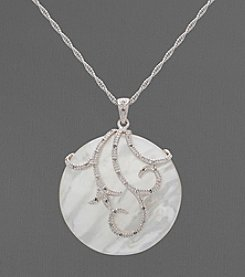 Mother of Pearl and Sterling Silver Necklace