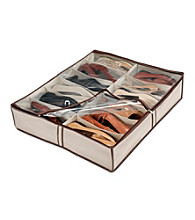 LivingQuarters Natural Tweed Underbed Shoe Storage