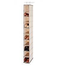 LivingQuarters 10-Bin Natural Tweed Hanging Shoe Organizer