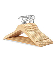 LivingQuarters Set of 16 Wood Suit Hangers