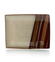 Sango Avanti Brown Large Rectangular Serving Plate