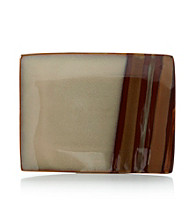 Sango Avanti Brown Small Rectangular Serving Plate