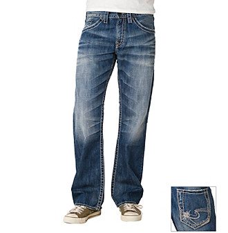 Silver Jeans Co. Men's Medium Washed Relaxed Fit Jeans