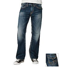 Silver Jeans Co. Men's Dark Washed Relaxed Jeans
