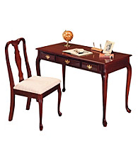 Ore International™ Cherry Home Office Desk & Chair Set