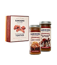 Sanders® Dessert Topping and Cashew Torties Tower