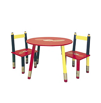 Ore International Kids Pencil 3-pc. Table Set Kid's