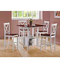 Monarch Casual White and Walnut Veneer Counter Height Dining Collection