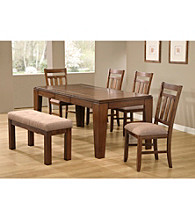 Monarch Traditional Distressed Oak Veneer Dining Collection