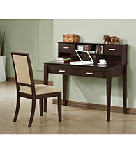 Monarch Classic Cappuccino Oak Veneer Writing Desk With Chair