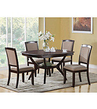 Monarch Contemporary Cappuccino Ash Veneer Dining Collection