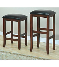 Monarch Set of 2 Dark Oak Barstools