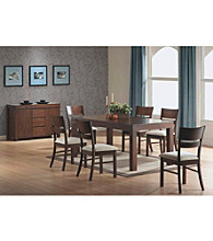 Monarch Casual Urban Walnut Solid Top Dining Collection