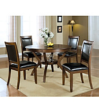 Monarch Cameron Dark Walnut Ash Veneer Round Dining Collection