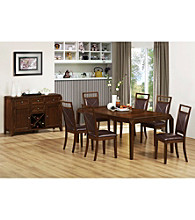 Monarch Tapered Brown Oak Veneer Dining Room Collection